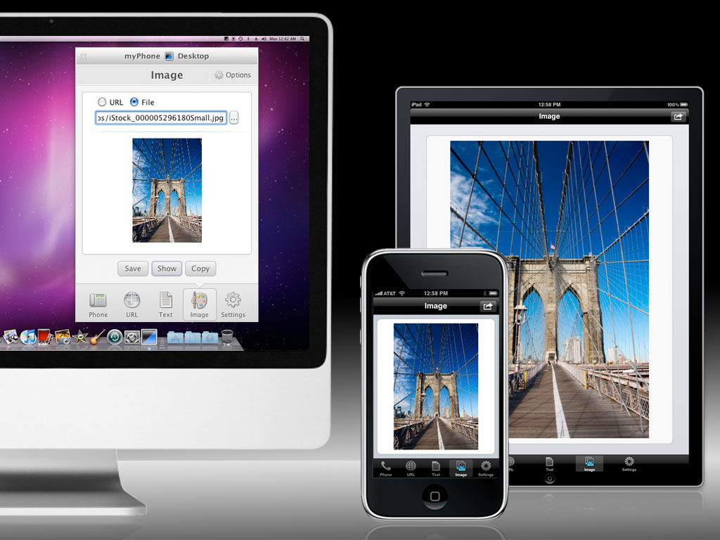Send Images or Photos to your iPhone from any application or web browser